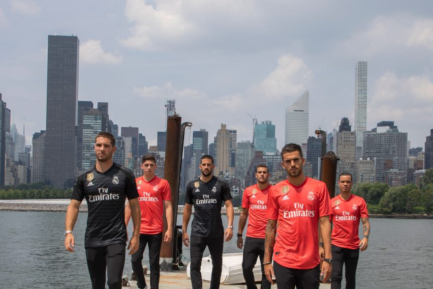 online retailer e0eeb 780b2 Adidas uses ocean plastic for coral-coloured Real Madrid kits