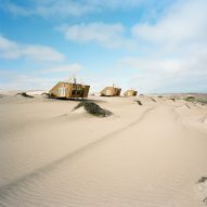 Shipwreck Lodge's wooden cabins evoke ships washed up on Namibia's Skeleton Coast