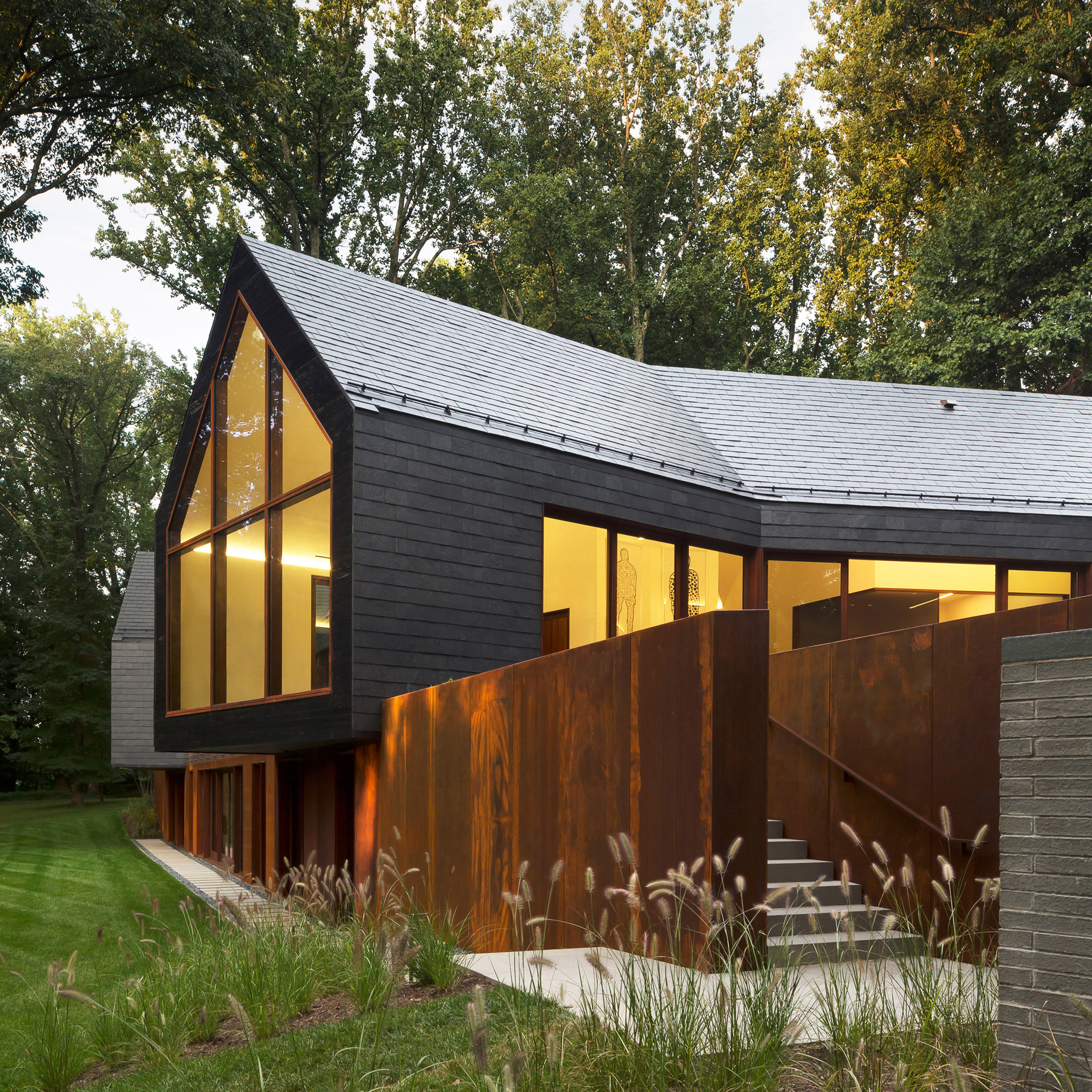 Slate House by Ziger Snead replaces fire-ravaged Maryland home