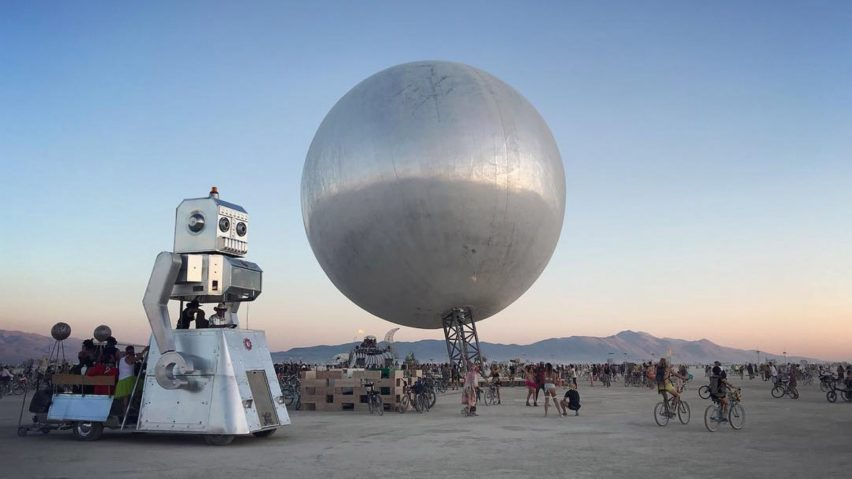 246a478133d BIG architects  mirrored orb among installation highlights at Burning Man  2018