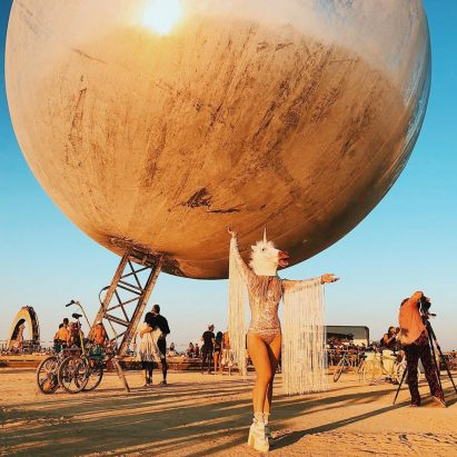 BIG architects  mirrored orb among installation highlights at Burning Man  2018 59937b2a8
