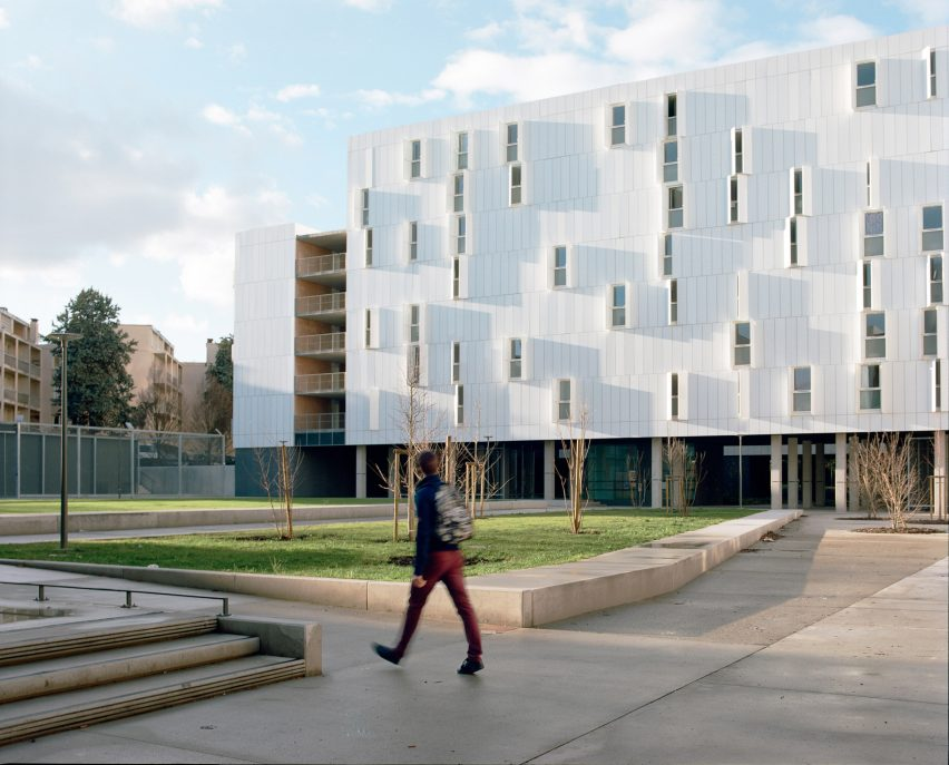 Student accommodation at Olympe de Gouges University by PPA Architecture
