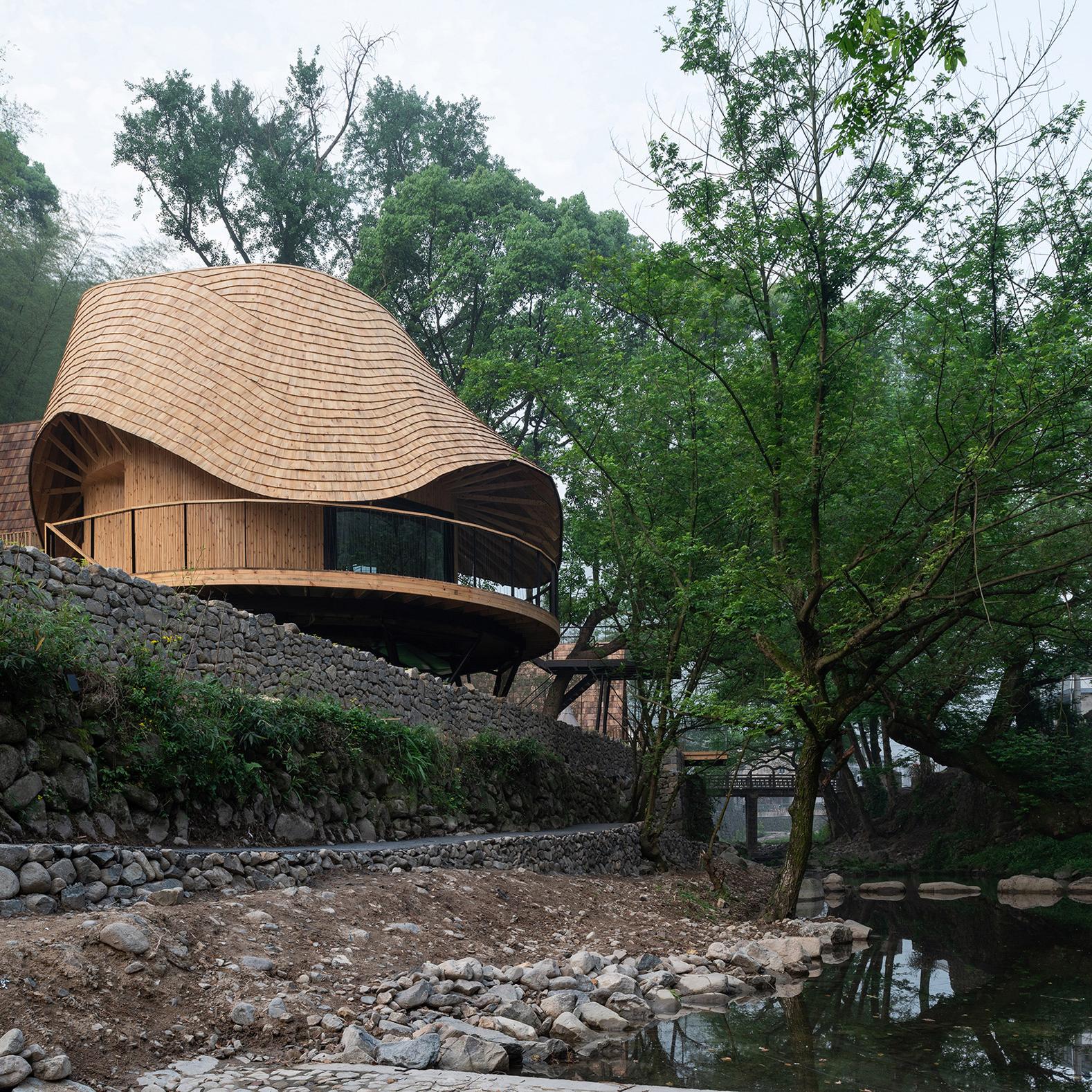 Dezeen's top 10 houses of 2018: Treewow Retreat, China, byMonoarchi