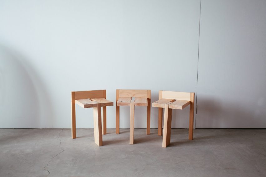 Tripodal Stool by Studio Adjective