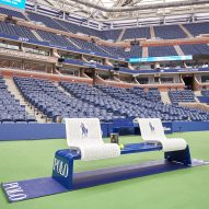 US Open tennis courts spruced up with furniture by Michael Graves' studio