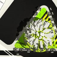 Neil Denari's adidas Sphere proposal is a live-work proposal inspired by the sports brand's Pod.System trainer