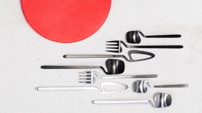 Nendo creates crooked cutlery range for Valerie Objects