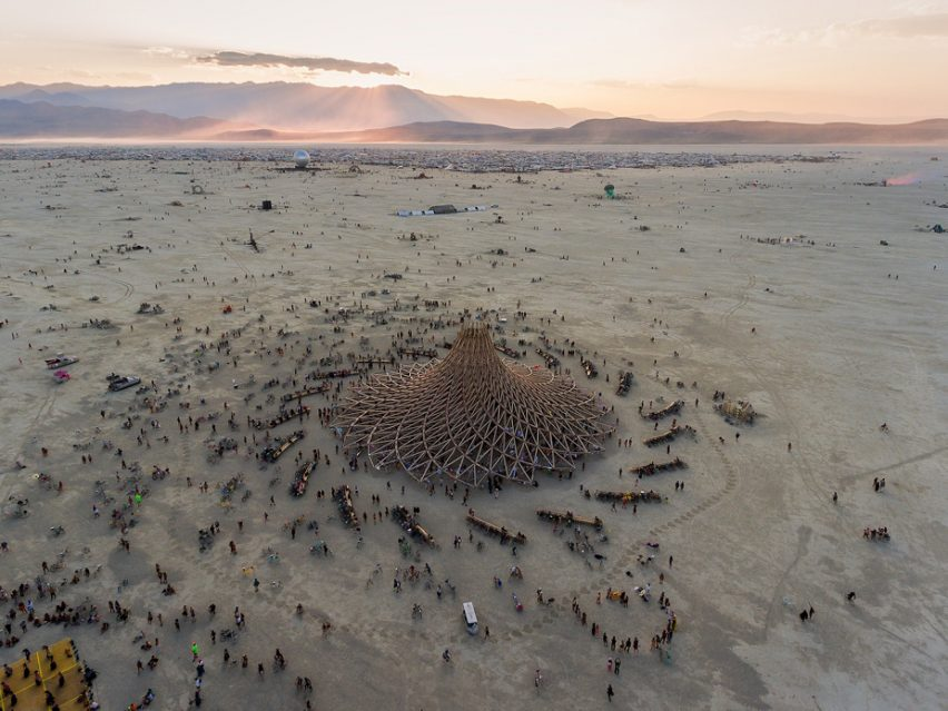 Burning Man 2018 drone photography by Alex Medina