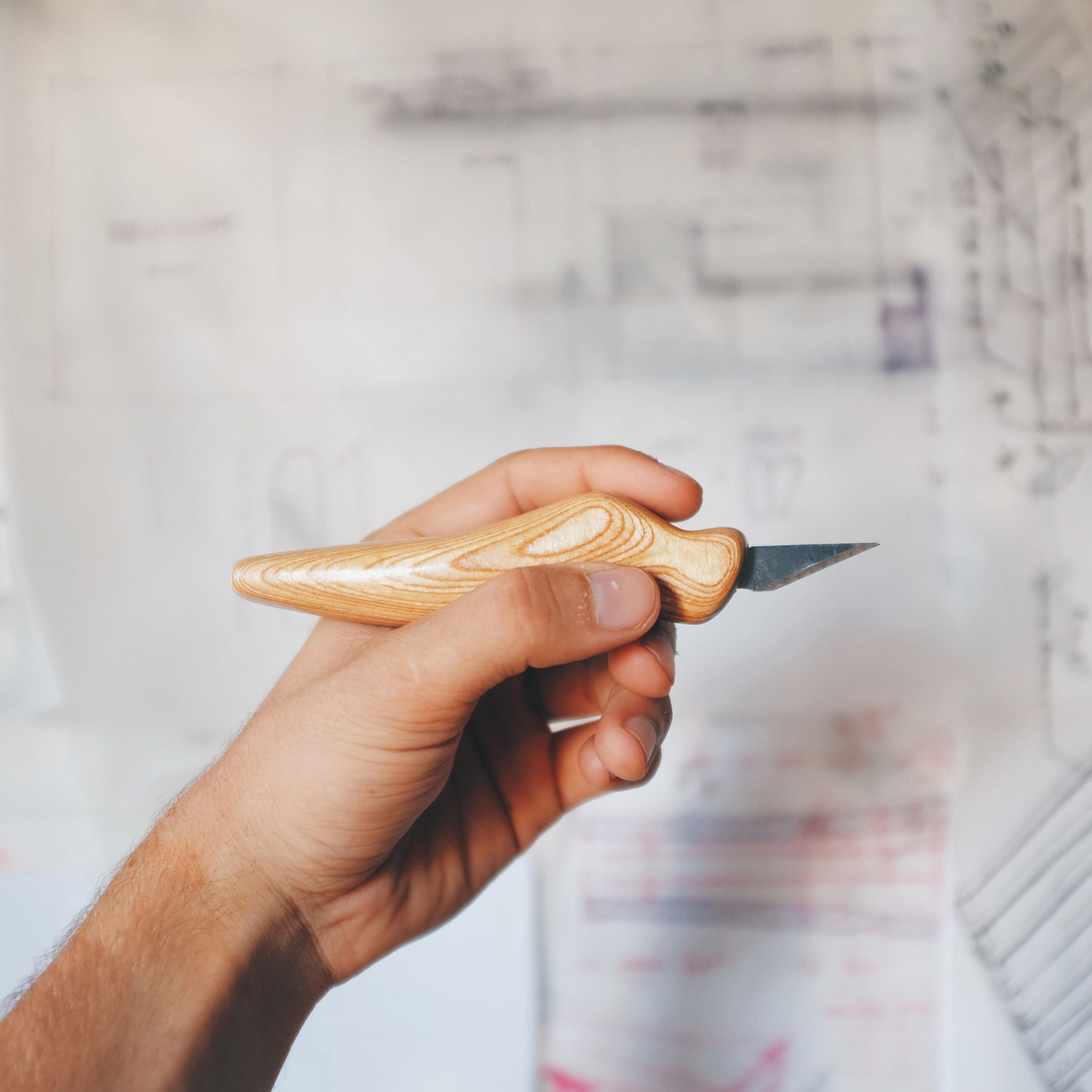 Architecture Cutting Knife Ergokiwi Alleviates Unbearable Hand