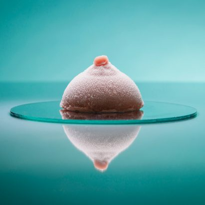 A rose-flavoured breast is the winner of Bompas & Parr's ice cream competition