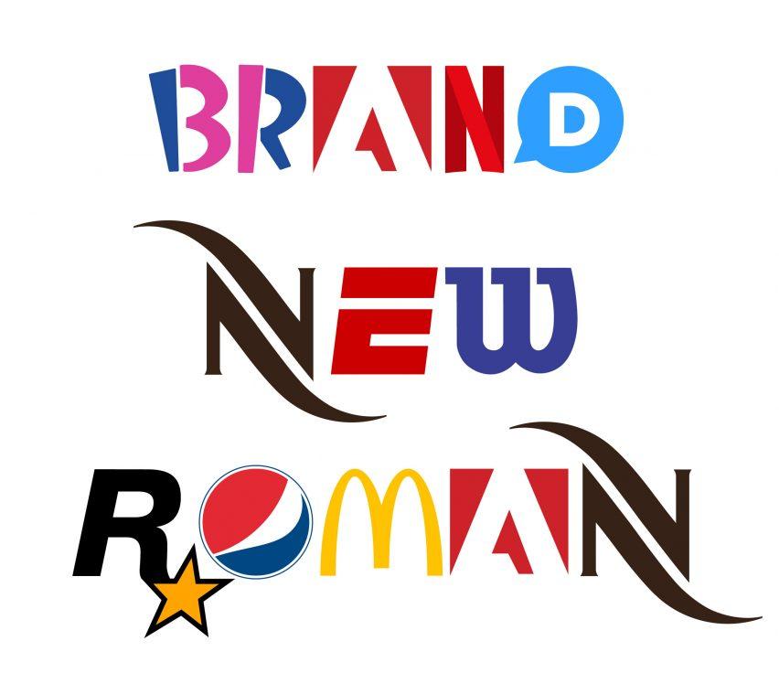 Hola Velocity parodia el capitalismo con tipografía hecha de logotipos de la marca