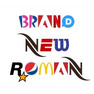 Brand New Roman is a typeface made from brand logos
