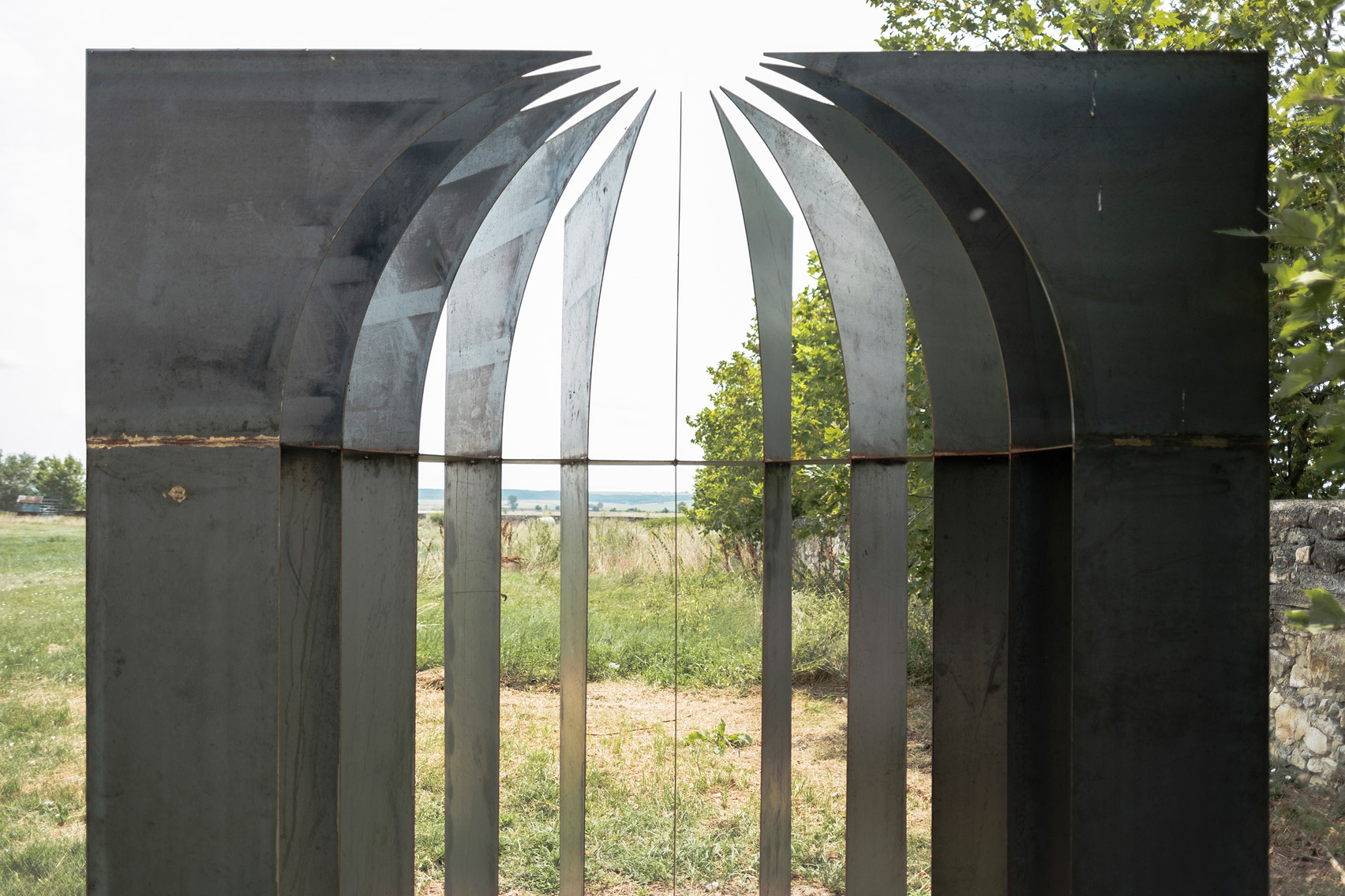Hungarian architects weld minimal wedding chapel from steel