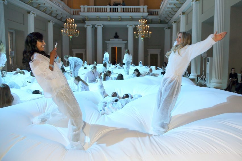 "Anya Hindmarch creates ""world's largest bean bag"" for London Fashion Week"