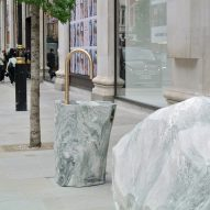 Djao-Rakitine creates monolithic street furniture for London's Selfridges