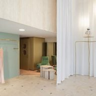 Fashion sits alongside found objects at the Forte Forte boutique in Milan