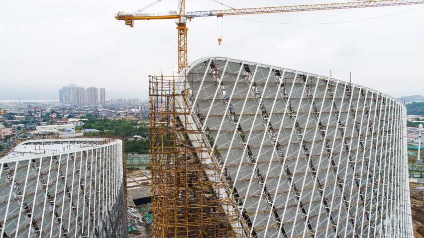 Marc Goodwin captures PES-Architects' vast Cultural Centre under construction in China