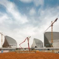 Marc Goodwin captures PES Architects' vast cultural centre under construction in Fuzhou