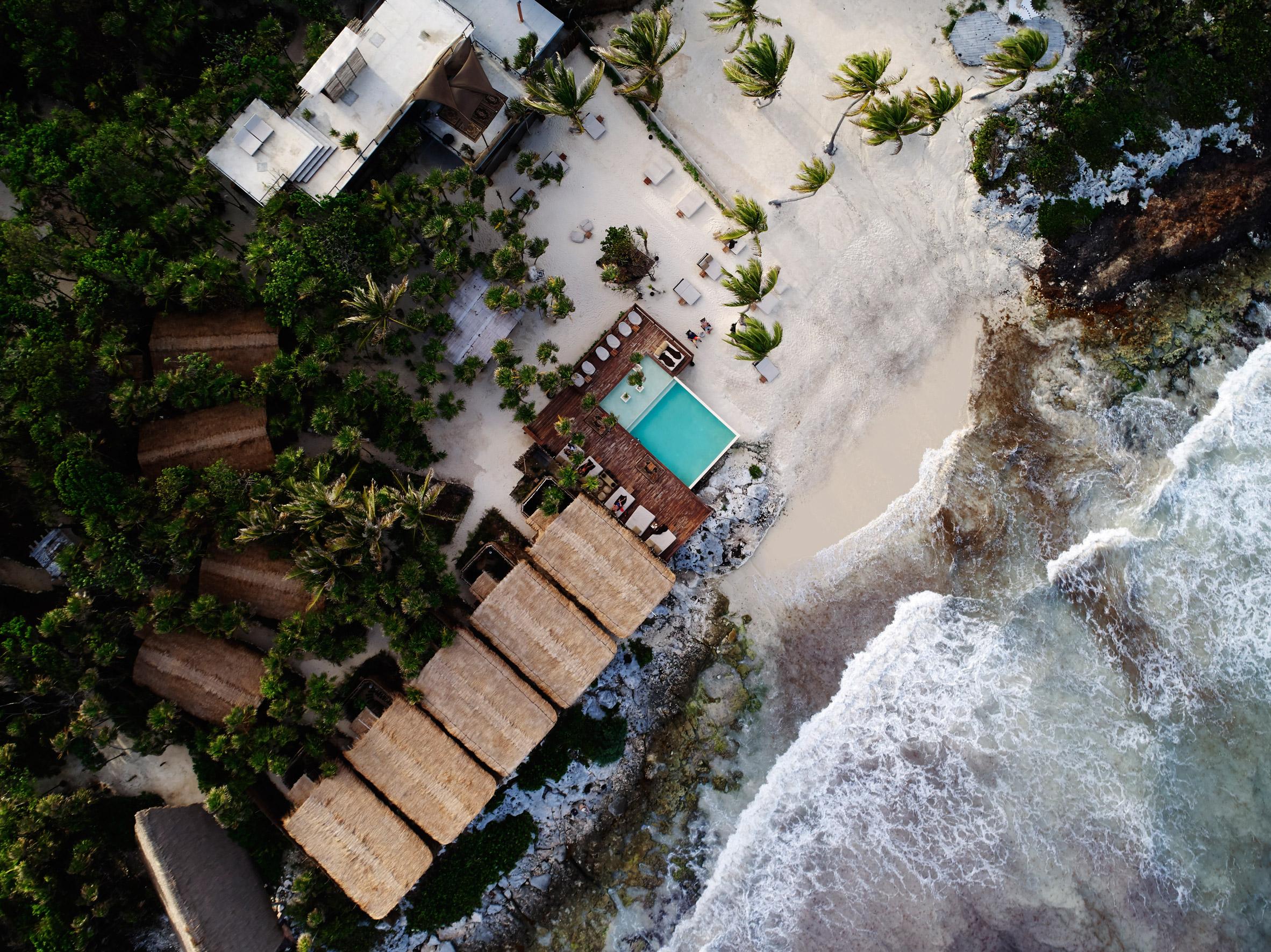 Habitas Tulum boutique hotel offers beachfront and hidden jungle rooms