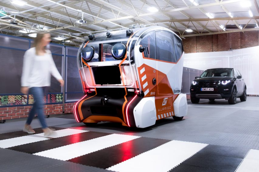 Jaguar Land Rover's prototype driverless car