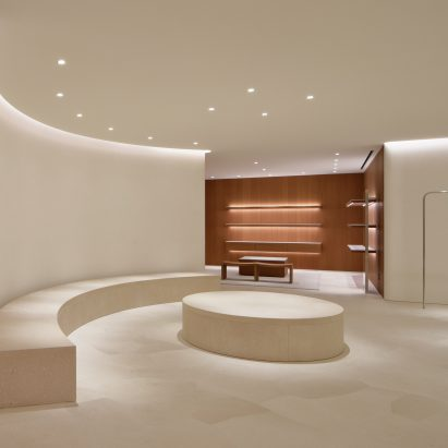 John Pawson Uses Limestone And Cherry Wood For Minimal Jil Sander Shop In  Tokyo