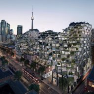 "BIG's pixelated complex of ""peaks and valleys"" for Toronto gains approval"