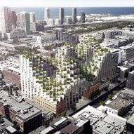 """BIG's pixelated complex of """"peaks and valleys"""" for Toronto gains approval"""