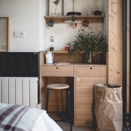 Be-poles fashions rustic interiors for Le Barn hotel near Paris