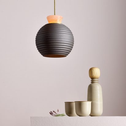Brave Matter Pairs Himalayan Salt With Ceramic And Brass For Lighting  Collection