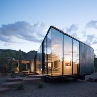 The Little Art Studio by Chen + Suchart reflects desert landscape in Arizona