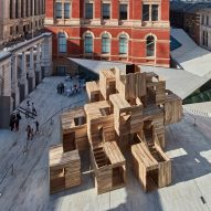 Waugh Thistleton installs modular three-storey maze in V&A's Sackler Courtyard