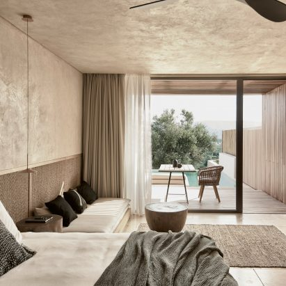 Greek Landscape Informs Natural Toned Suites Of The Olea Hotel
