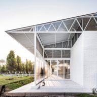 Abraham Cota Paredes builds white party venue alongside Mexican house