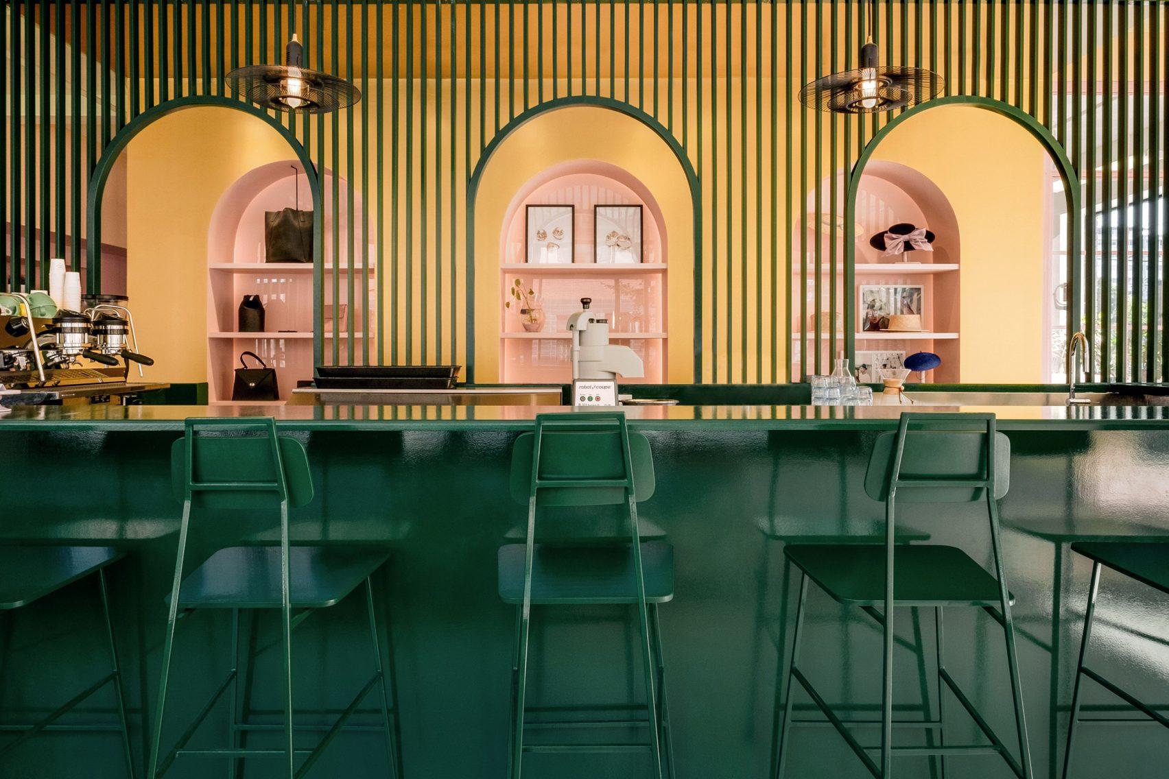 Цветомаркировка залов кафе Pastel Rita