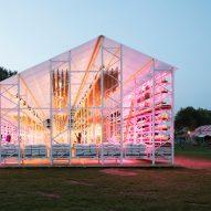 Overtreders W creates zero-waste barn and restaurant for Dutch festival