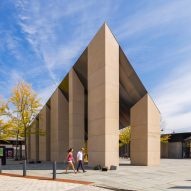 Angular steel roof tops Princeton Transit Hall by Studio Rick Joy