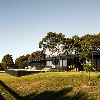 Carr's Red Hill Farm House is a modern twist on vernacular agricultural architecture