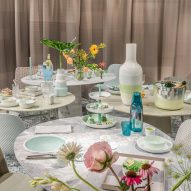 Scholten & Baijings installs contemporary tea party inside Fortnum & Mason
