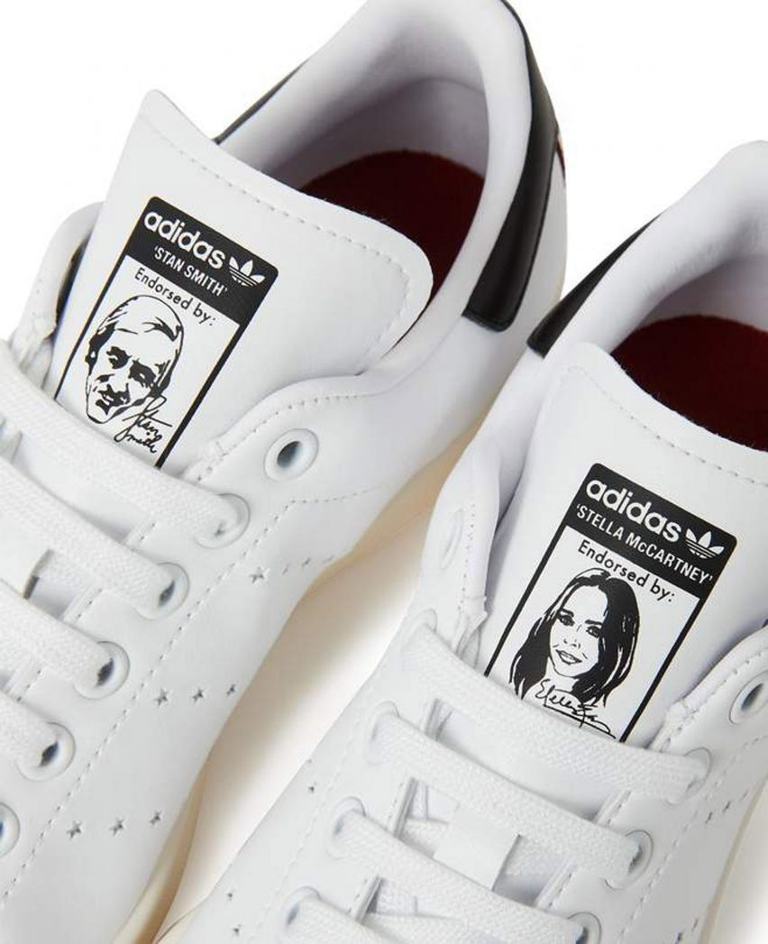 online store 70127 c130b A portrait of McCartney decorates the tongue of the left shoe, while the  right tongue features a picture of Stan Smith – the US tennis star the shoe  is ...