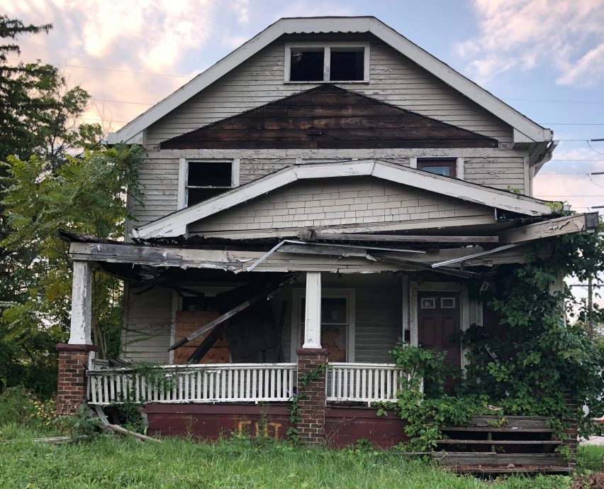 Cleveland firm Redhouse Architecture is planning to recycle derelict homes by combining waste materials from demolitions with mushroom mycelium, creating new building materials.