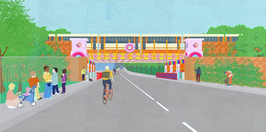 Yinka Ilori to transform rundown London bridge with rainbow colours