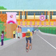 Yinka Ilori to transform rundown London bridge with rainbow colours