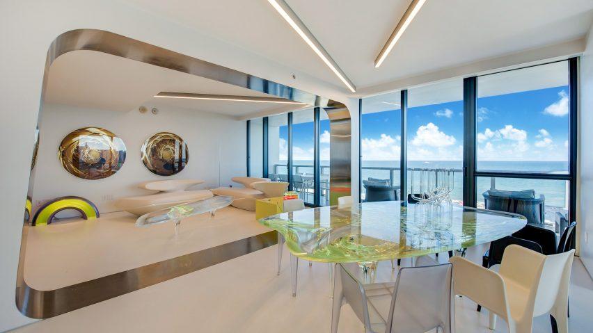 Zaha Hadid's Miami apartment