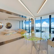 Zaha Hadid's Miami Beach apartment was furnished with her own designs