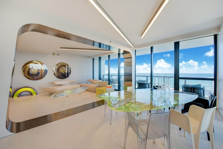 Zaha Hadidu0027s Miami Beach Apartment Was Furnished With Her Own Designs