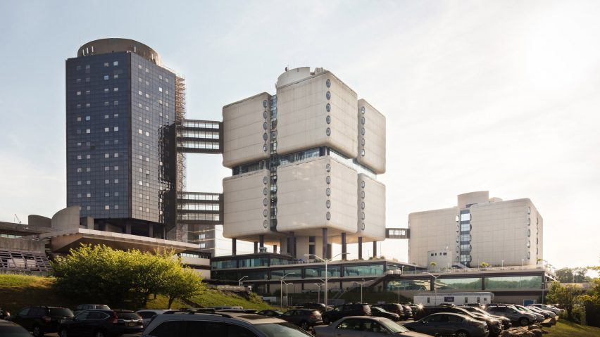 Stony Brook University Hospital by Bertrand Goldberg, Stony Brook, New York