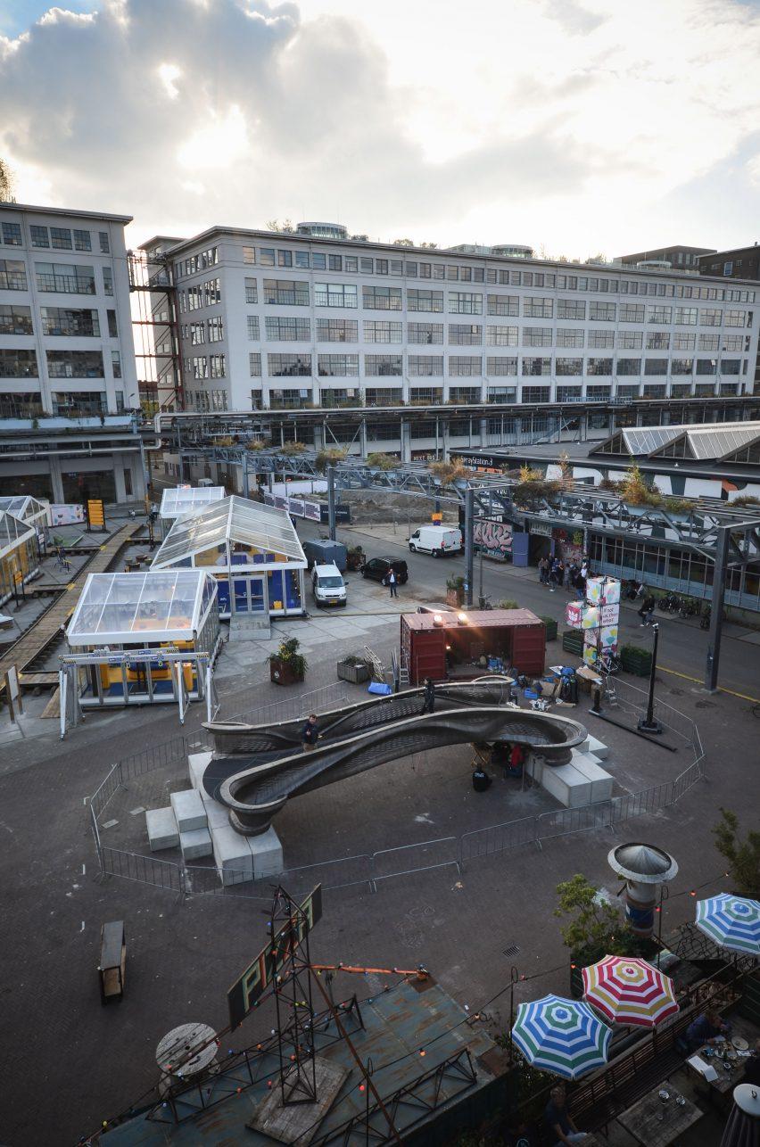 World's first 3D-printed steel bridge unveiled at Dutch Design Week