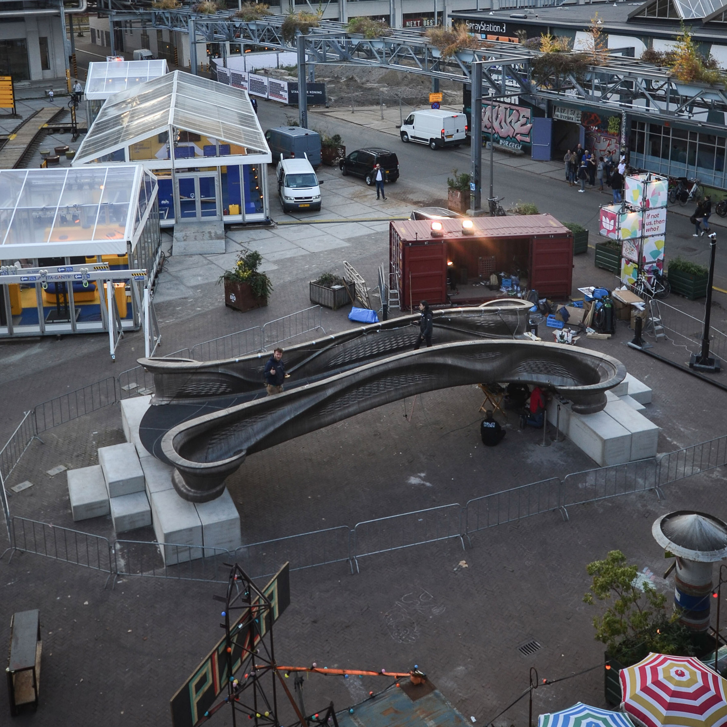 World's first 3D-printed steel bridge unveiled at Dutch