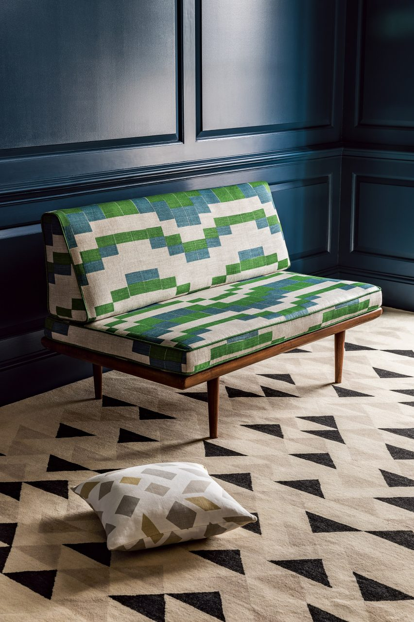 Christopher Farr launches two patterned fabrics from the Anni Albers archive