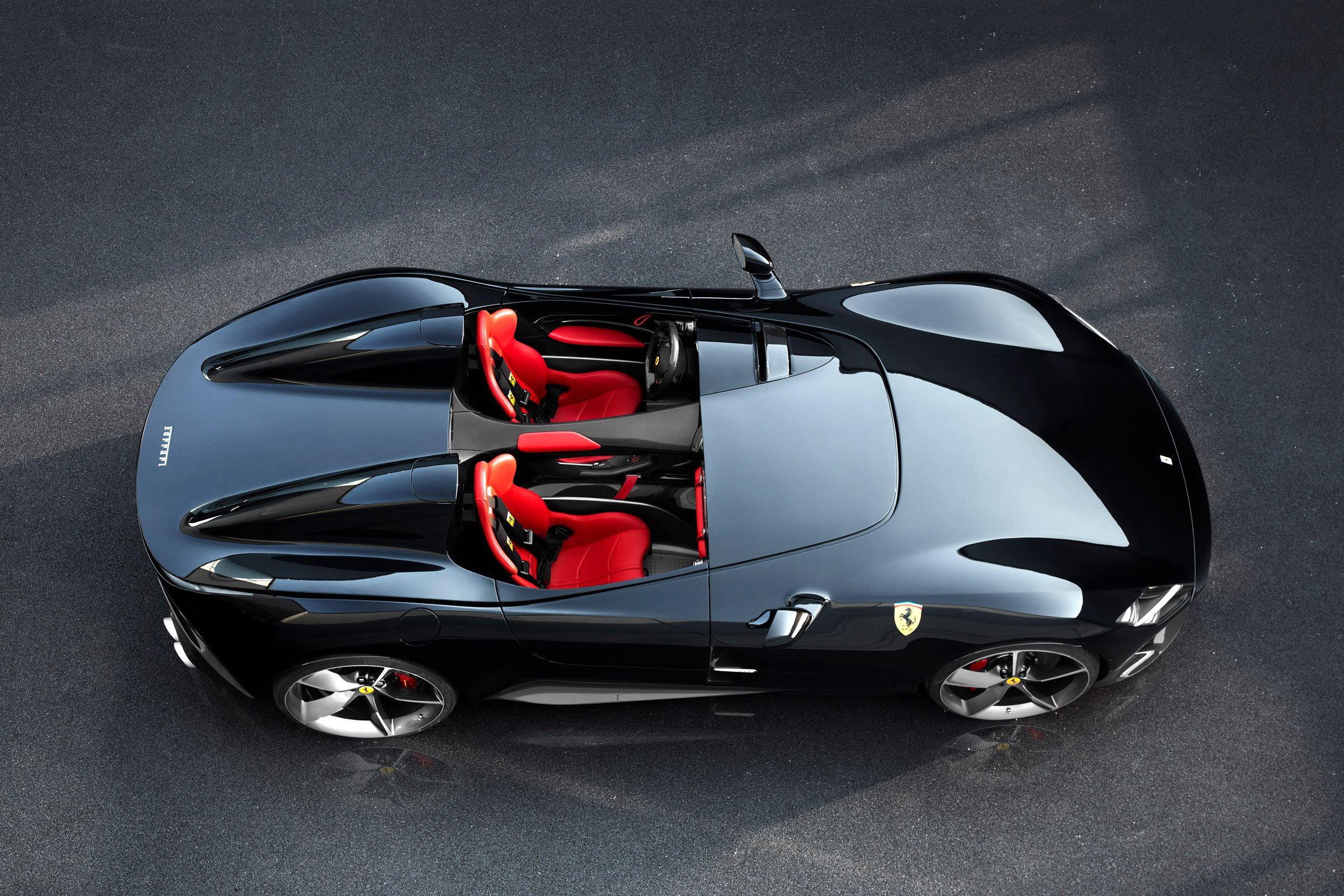 Ferrari's Monza SP1 and SP2 sports cars have no windshield or roof